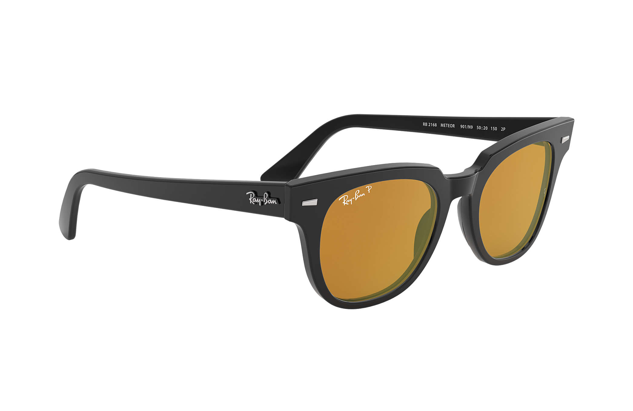 5945a34540 Ray-Ban Meteor Classic RB2168 Black - Acetate - Yellow Polarized ...
