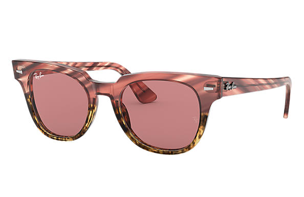 Ray-Ban 0RB2168-METEOR STRIPED HAVANA Striped Pink Gradient Beige,Pink; Pink SUN