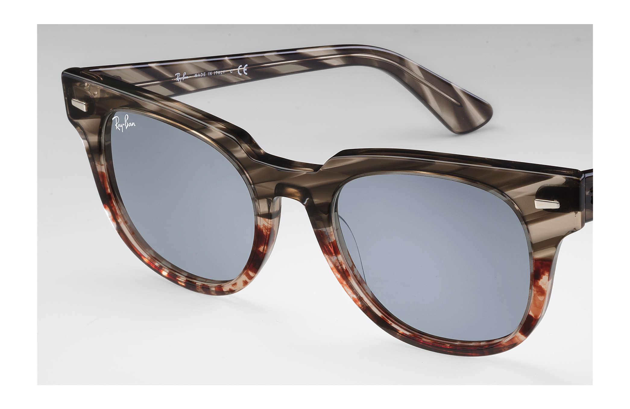 0217a92438 ... Ray-Ban 0RB2168-METEOR STRIPED HAVANA Striped Grey Gradient Brown