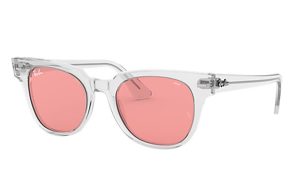 Ray-Ban Sunglasses METEOR WASHED EVOLVE Transparent with Pink Photochromic Evolve lens