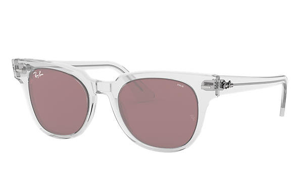 Ray-Ban Sunglasses METEOR WASHED EVOLVE Transparent with Purple Photochromic Evolve lens