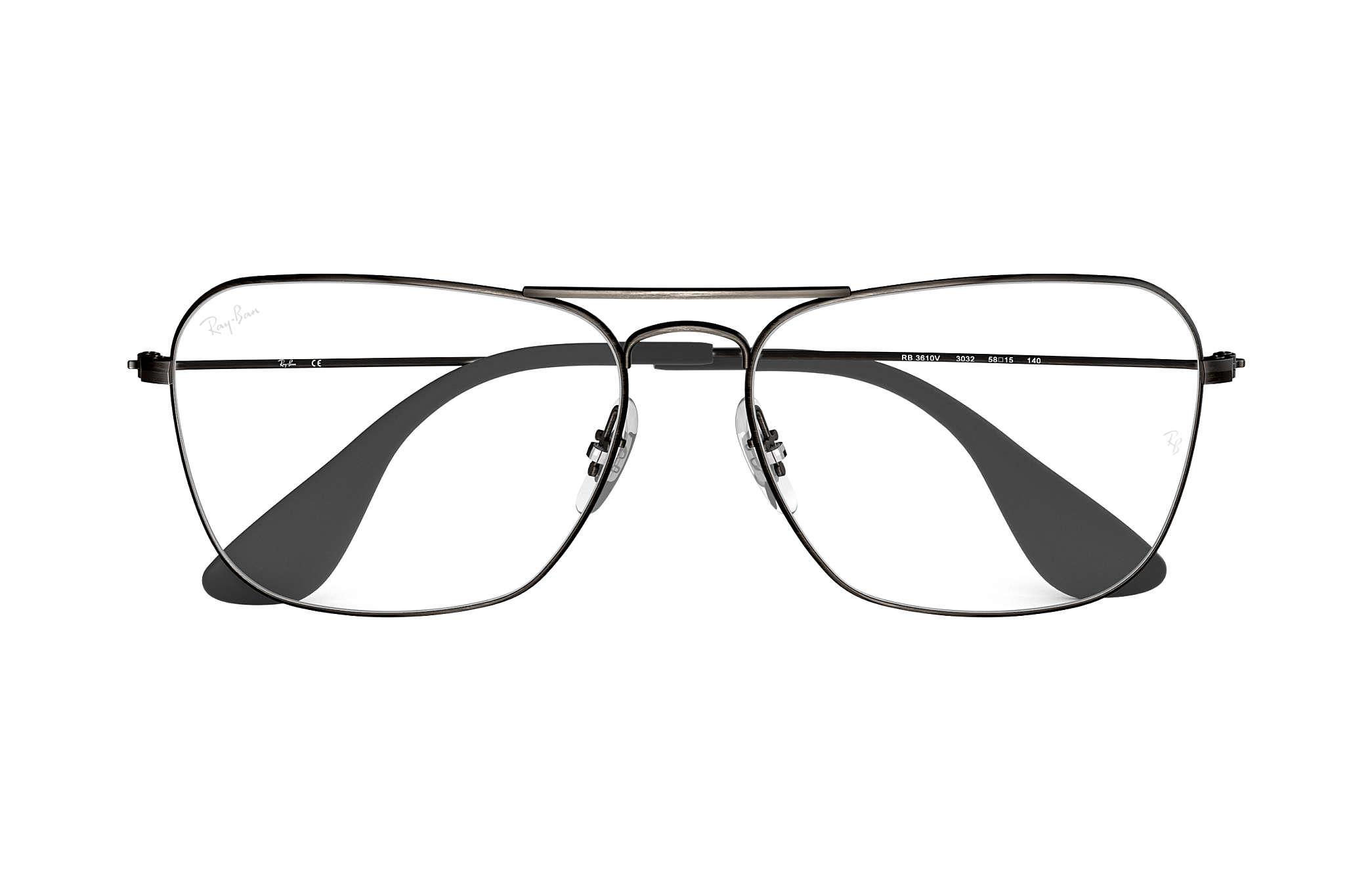 23cf6965924b Ray-Ban prescription glasses RB3610V Antique Black - Metal ...