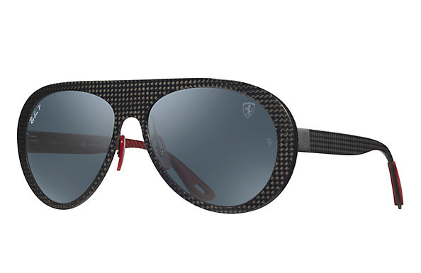 Ray-Ban SCUDERIA FERRARI ITALY LIMITED EDITION Gunmetal with Blue Mirror Chromance lens
