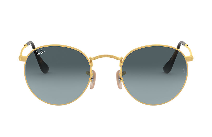 Ray-Ban  sunglasses RB3447 MALE 011 round metal gold 8056597001816