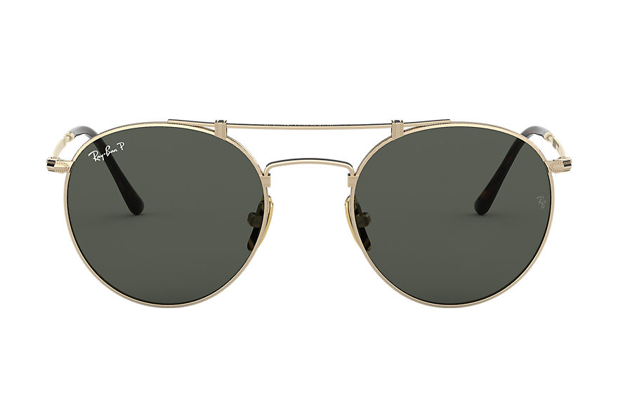 Ray-Ban  sunglasses RB8147M UNISEX 001 round titanium white gold 8056597001861