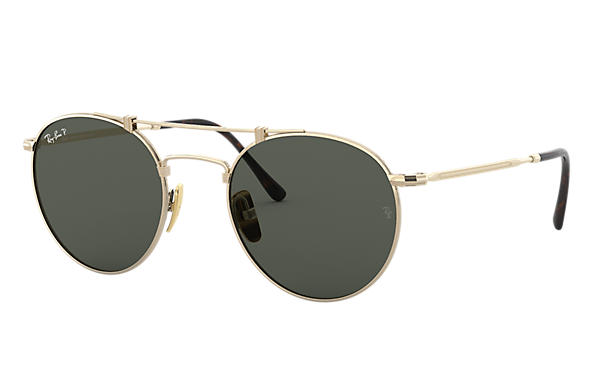 Ray-Ban 0RB8147M-ROUND TITANIUM Or SUN