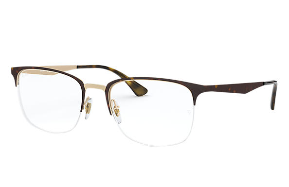 Ray-Ban 0RX6433-RB6433 Tortoise,Pink Gold; Tortoise,Gold OPTICAL