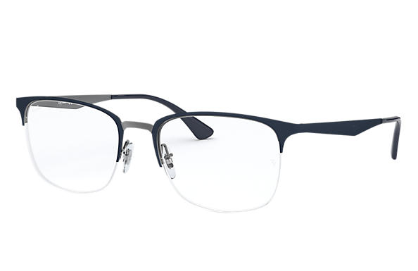 Ray-Ban 0RX6433-RB6433 Blau,Gunmetal OPTICAL
