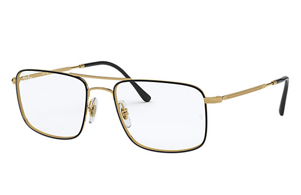 Ray-Ban 0RX6434-RB6434 Black,Gold; Gold OPTICAL