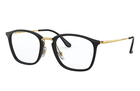 Ray-Ban 0RX7164-RB7164 Black; Gold OPTICAL