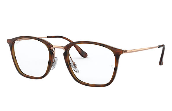 Ray-Ban 0RX7164-RB7164 Striped Havana,Tortoise; Bronze-Copper OPTICAL
