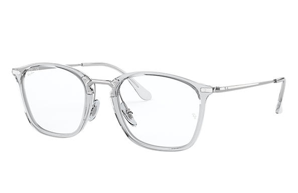 Ray-Ban 0RX7164-RB7164 Transparent; Silver OPTICAL