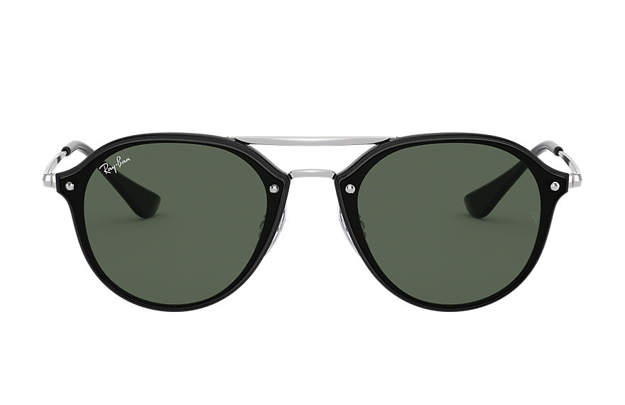Ray-Ban JUNIOR DOUBLE BRIDGE Black with Green Classic lens