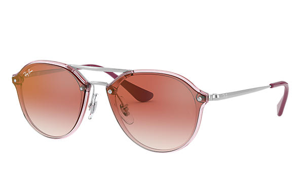 Ray-Ban 0RJ9067SN-JUNIOR DOUBLE BRIDGE Rosa; Plata SUN