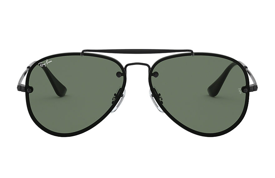 Ray-Ban BLAZE AVIATOR JUNIOR Black with Green Classic lens