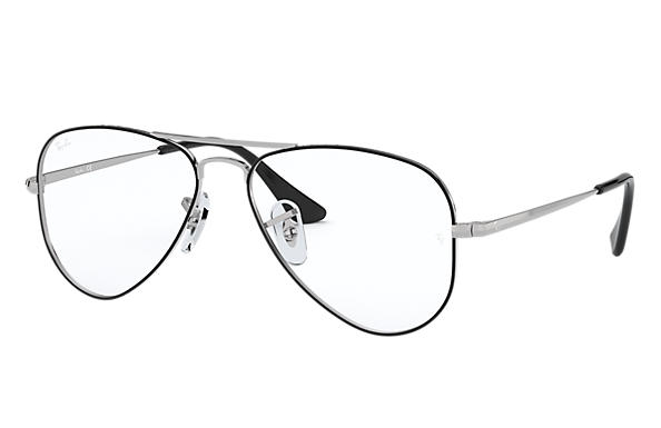Ray-Ban 0RY1089-AVIATOR JUNIOR OPTICS Negro,Plata; Plata OPTICAL