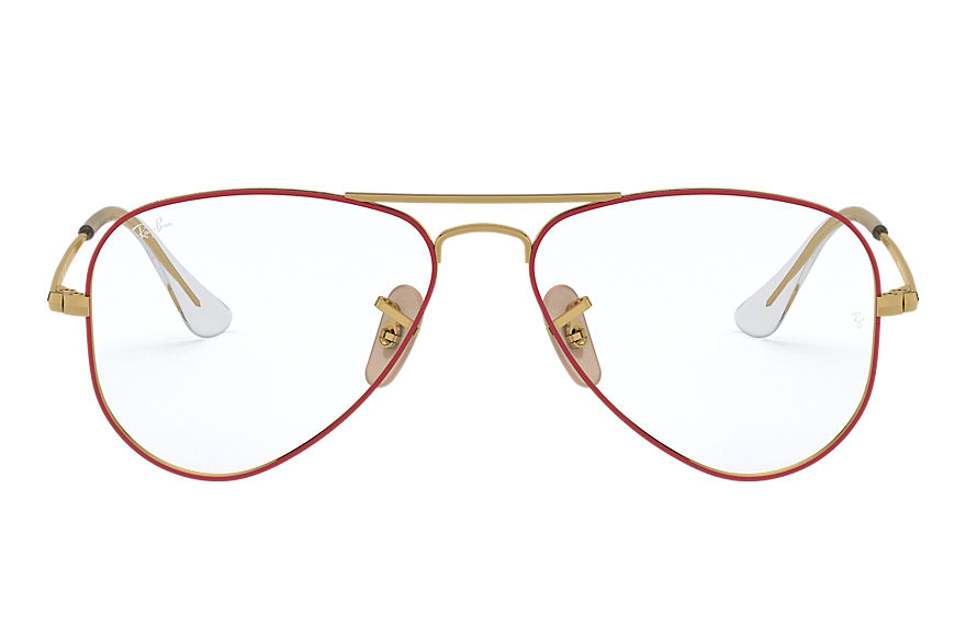 Ray-Ban  lunettes de vue RY1089 CHILD 004 aviator junior optics rouge 8056597014021