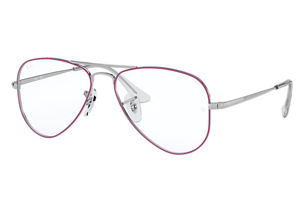 c7b246c96b Ray-Ban prescription glasses Aviator Junior Optics RY1089 Violet ...
