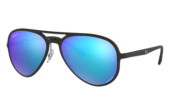 Ray-Ban Sunglasses RB4320CH Chromance Black with Blue Mirror Chromance lens
