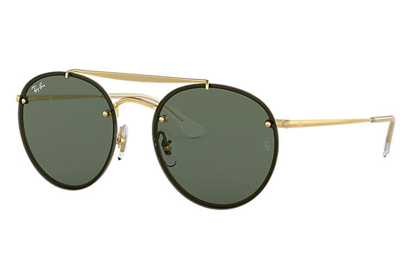 Ray-Ban 0RB3614N-BLAZE ROUND DOUBLE BRIDGE Goud,Gold; Gold SUN