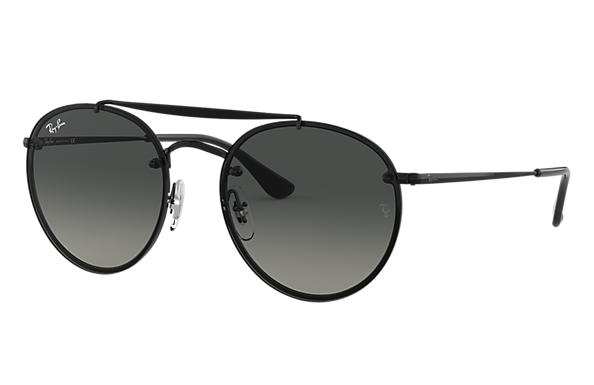 Ray-Ban 0RB3614N-BLAZE ROUND DOUBLE BRIDGE Noir SUN