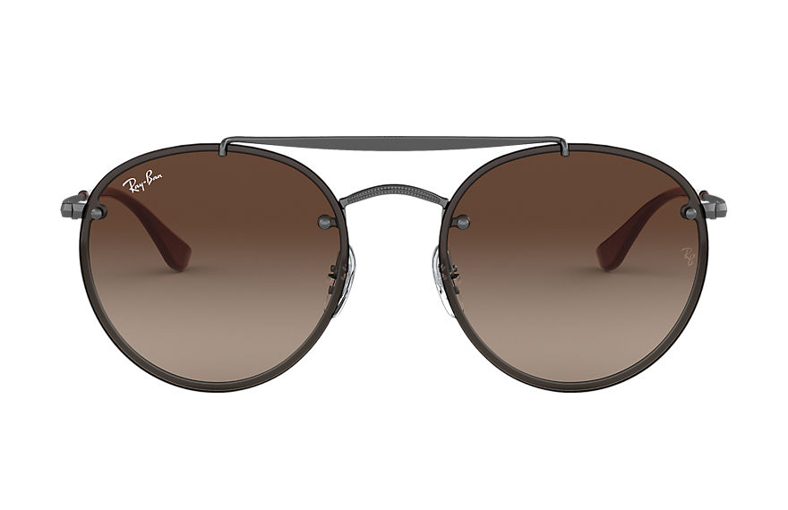 Ray-Ban  sunglasses RB3614N UNISEX 002 blaze round double bridge gunmetal 8056597017879