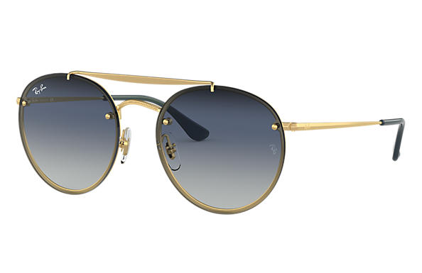 Ray-Ban 0RB3614N-BLAZE ROUND DOUBLE BRIDGE Gold SUN