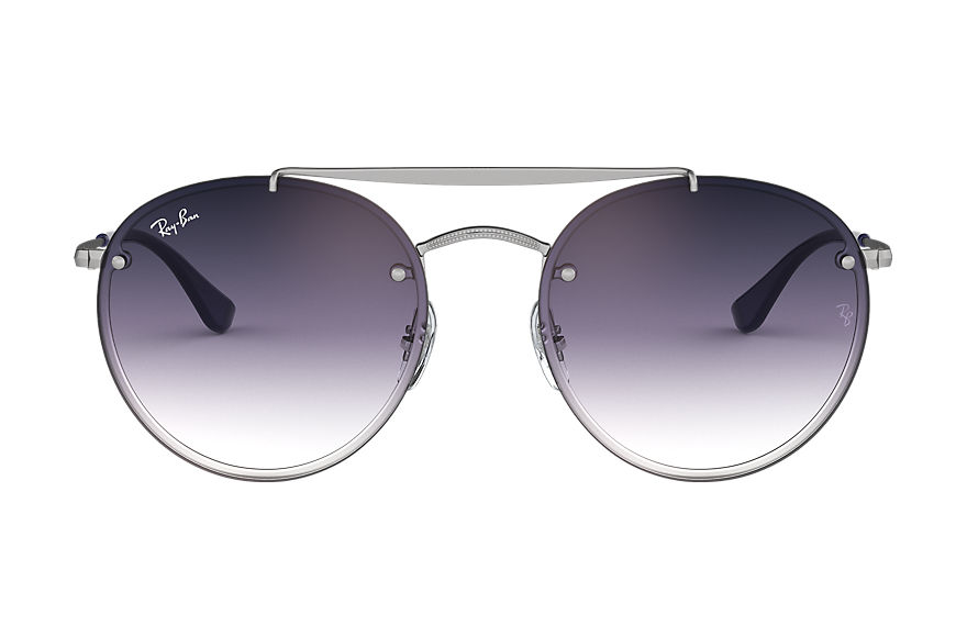 Ray-Ban  sonnenbrillen RB3614N MALE 001 blaze round double bridge silber 8056597017893