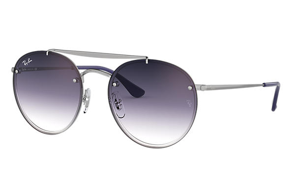 Ray-Ban 0RB3614N-BLAZE ROUND DOUBLE BRIDGE Plata SUN