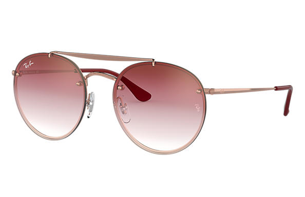 Ray-Ban 0RB3614N-BLAZE ROUND DOUBLE BRIDGE Bronze-Kupfer SUN