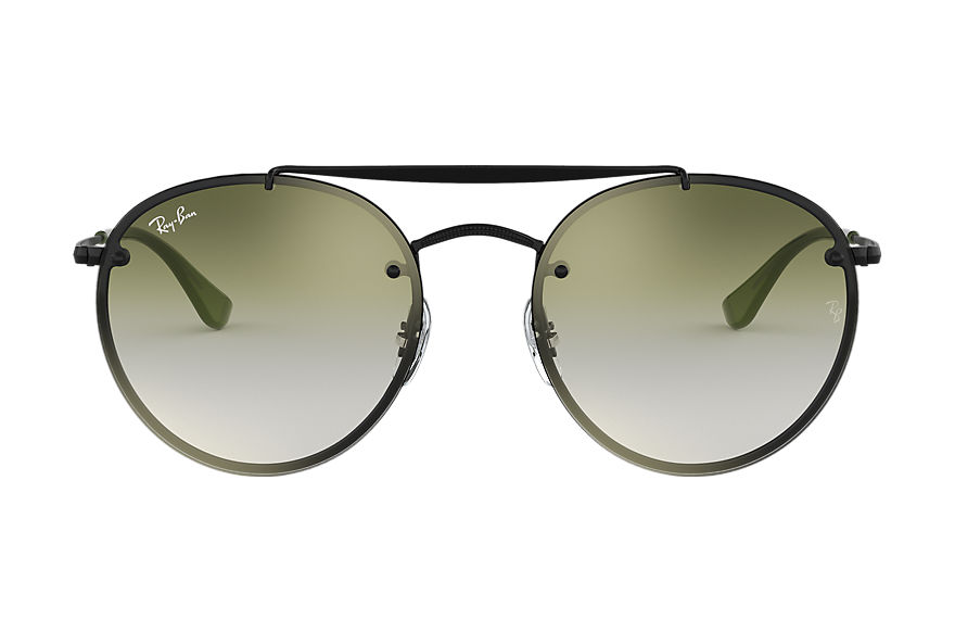 Ray-Ban  sunglasses RB3614N MALE 002 blaze round double bridge black 8056597017916
