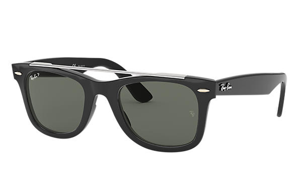 Ray-Ban 0RB4540-WAYFARER DOUBLE BRIDGE Schwarz SUN
