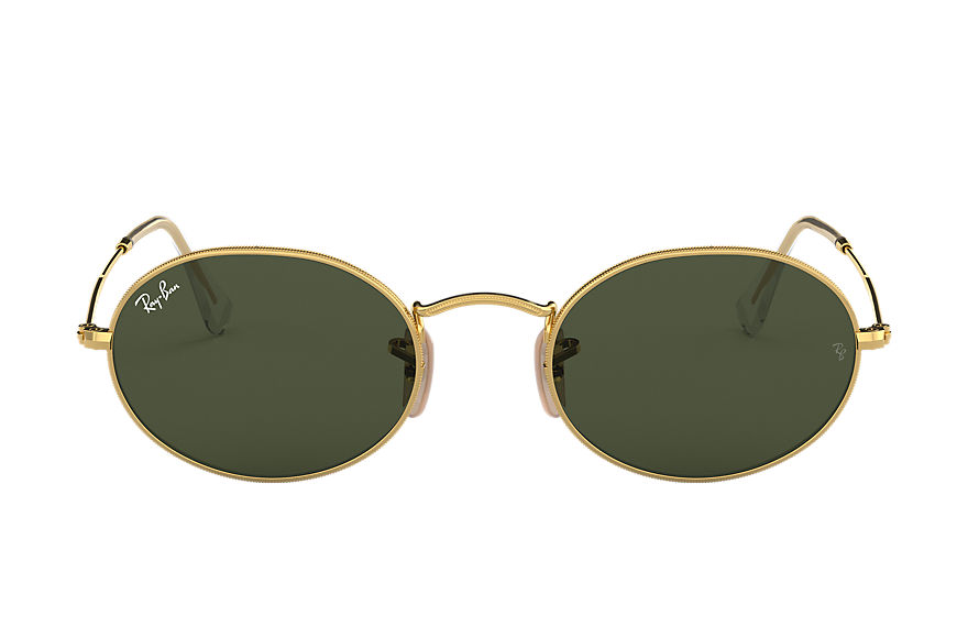 Ray-Ban Sunglasses OVAL Gold with Green Classic G-15 lens