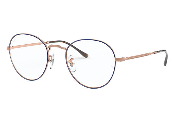 Ray-Ban 0RX3582V-ROUND METAL OPTICS II Bleu,Bronze-cuivre; Bronze-cuivre OPTICAL