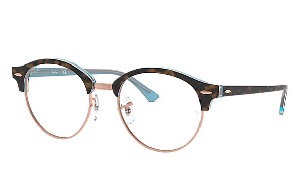 Ray-Ban 0RX4246V-CLUBROUND OPTICS Havana,Hellblau OPTICAL