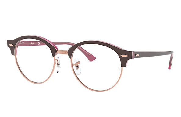 Ray-Ban 0RX4246V-CLUBROUND OPTICS Brown,Pink OPTICAL