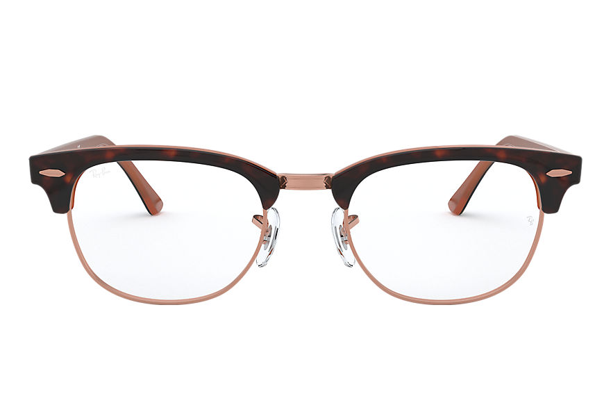 Ray-Ban  eyeglasses RX5154 MALE 007 clubmaster optics 호피색 8056597026178