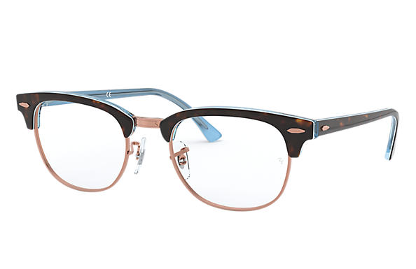 Ray-Ban 0RX5154-CLUBMASTER OPTICS Tortoise,Light Blue OPTICAL