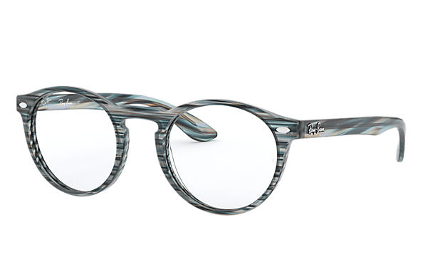 Ray-Ban 0RX5283-RB5283 Rayé Bleu - Gris OPTICAL