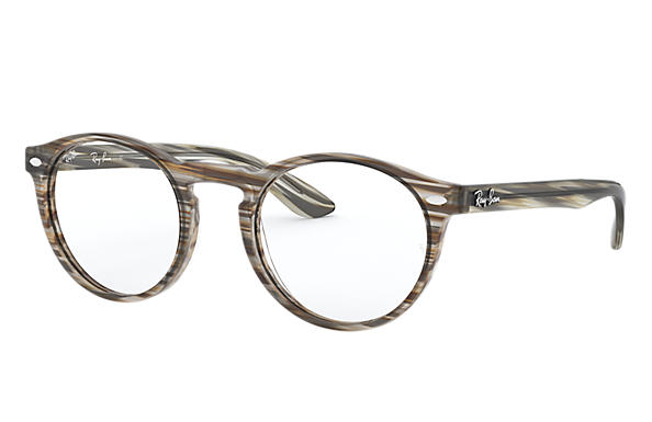 Ray-Ban 0RX5283-RB5283 Marrón y gris de rayas OPTICAL