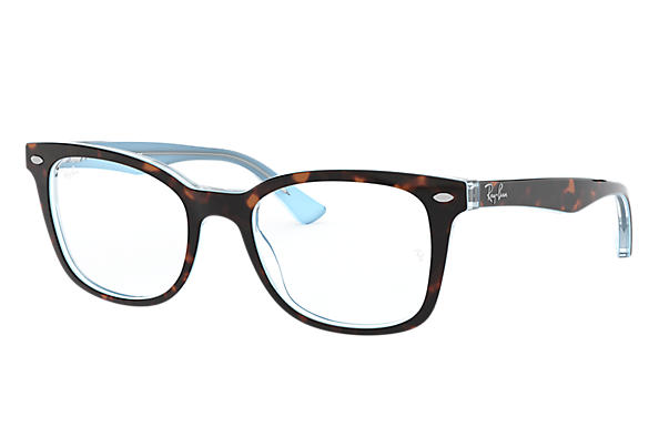 Ray-Ban 0RX5285-RB5285 Tortoise,Light Blue OPTICAL