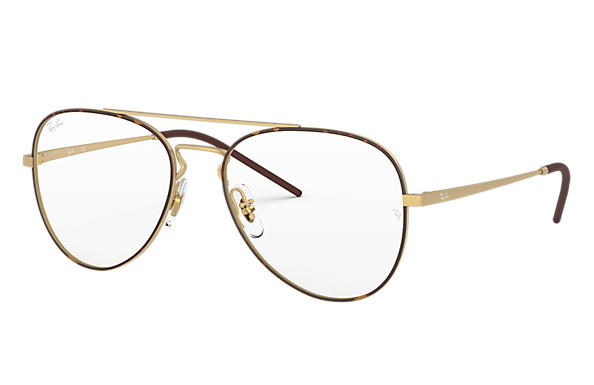 Ray-Ban 0RX6413-RB6413 Havana,Gold; Gold OPTICAL