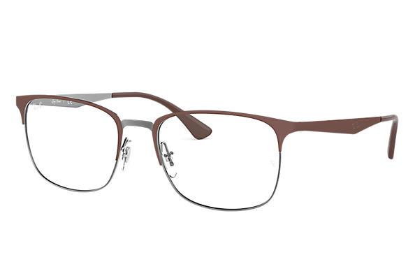 Ray-Ban 0RX6421-RB6421 Braun,Gunmetal OPTICAL