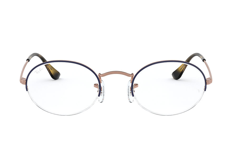 Ray-Ban  eyeglasses RX6547 MALE 004 oval gaze blue 8056597028219