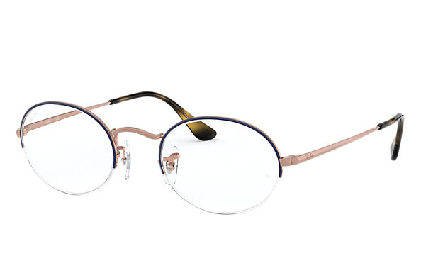 Ray-Ban 0RX6547-OVAL GAZE Blue,Bronze; Bronze-Copper OPTICAL