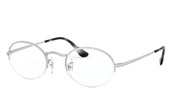 Ray-Ban 0RX6547-OVAL GAZE Argento OPTICAL