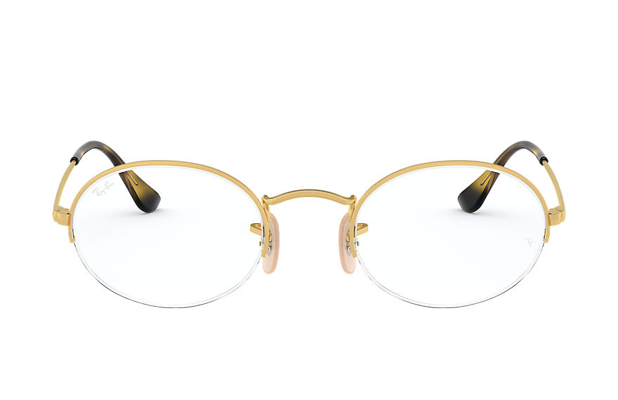 Ray-Ban  eyeglasses RX6547 MALE 005 oval gaze gold 8056597028240