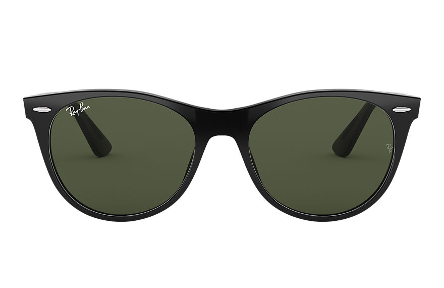 Ray-Ban  sunglasses RB2185F UNISEX 003 wayfarer ii classic low bridge fit 黑色 8056597028387