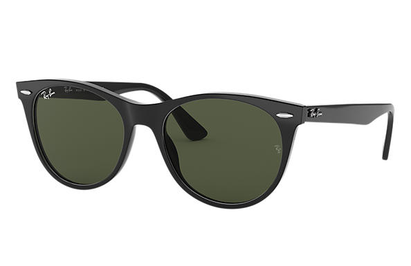 Ray-Ban Sunglasses WAYFARER II CLASSIC Spotted Havana with Brown Classic B-15 lens