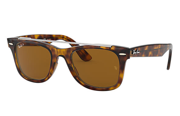 Ray-Ban 0RB4540-WAYFARER DOUBLE BRIDGE Tortoise SUN